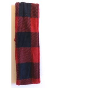 Buffalo plaid soft warm fleece headband earwarmer